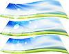 Vector clipart: summer blurs banners