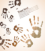 Vector clipart: handprint color background