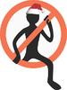 Vector clipart: stop danger man symbol