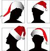 Vector clipart: head symbol set