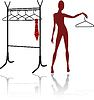 Vector clipart: abstract mannequin silhouette