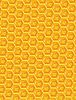 Vector clipart: orange and yellow honeycomb ornament