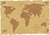 Vector clipart: grunge old map