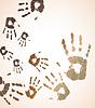 Vector clipart: handprint color background