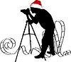 Vector clipart: Photographer`s silhouette