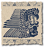 Vector clipart: mayan and inca tribal on old paper