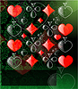 Vector clipart: abstract play card background