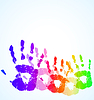 hand print abstract color background
