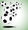 Vector clipart: abstract soccer background