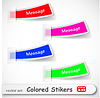 Vector clipart: abstract colored sticker set