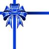 Vector clipart: blue bow