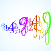 abstract color number background