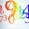Vector clipart: abstract color number background