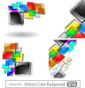 Vector clipart: abstract color background set