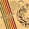 Vektor Cliparts: Vintage-Papier Hintergrund mit Tiger verbranntem Papier