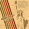 Vector clipart: retro Statue of Liberty background