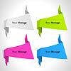 Vektor Cliparts: der abstrakte Hintergrund Origami-Set