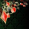 Vektor Cliparts: das abstrakte Spiel Karte Hintergrund