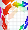 Vector clipart: abstract color arrow background