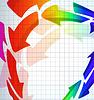 Vektor Cliparts: die abstrakte Farbe Pfeil Hintergrund