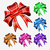 Vector clipart: Red bow set