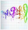 Vektor Cliparts: die abstrakten Farb-Nummer Hintergrund