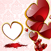 Vektor Cliparts: die abstrakte Herzen Hintergrund