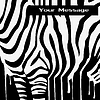 abstract zebra silhouette with smudges barcode