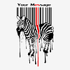 abstract zebra silhouette with barcode