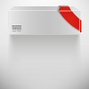 Vector clipart: abstract white box with red ribbon