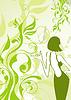 Векторный клипарт: Ретро цветочные фон