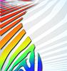 Векторный клипарт: зебра абстрактный фон