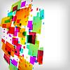 Векторный клипарт: абстрактного квадратного красочный фон