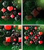 Векторный клипарт: абстрактный фон карты игры набор