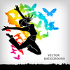 Векторный клипарт: абстрактный бабочка красочный фон