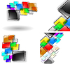 Векторный клипарт: Абстрактный набор цвет фона