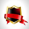 Векторный клипарт: абстрактный щит с лентой