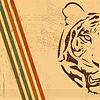 vintage paper background with tiger burnt paper