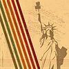 Векторный клипарт: Ретро Статуя Свободы фоне
