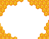 Orange background about honeycombs