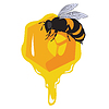 The bees and honeycomb with honey | Stock Vector Graphics