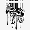 Vector clipart: zebra silhouette