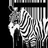 Векторный клипарт: силуэт зебры со штрих-кодом