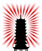 일본어 종교적 목적의 실루엣 | Stock Vector Graphics