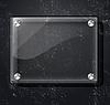 Векторный клипарт: Стеклянные пластины на черном фоне