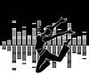 Векторный клипарт: Танцующая девушка