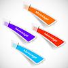 Векторный клипарт: абстрактный набор цветной наклейки