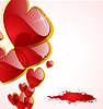 Vector clipart: the abstract hearts background