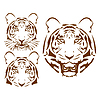 the abstract tiger head set