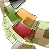 Vector clipart: the abstract color background